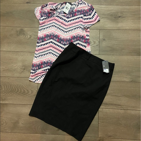 Mossimo Supply Co. Dresses & Skirts - Blouse (m) and skirt (8) outfit!